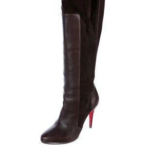 Authentic Chocolate leather Christian Louboutin